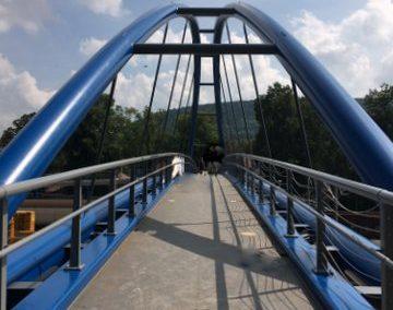 Rad u. Fußgängerbrücke in Heiligenstadt